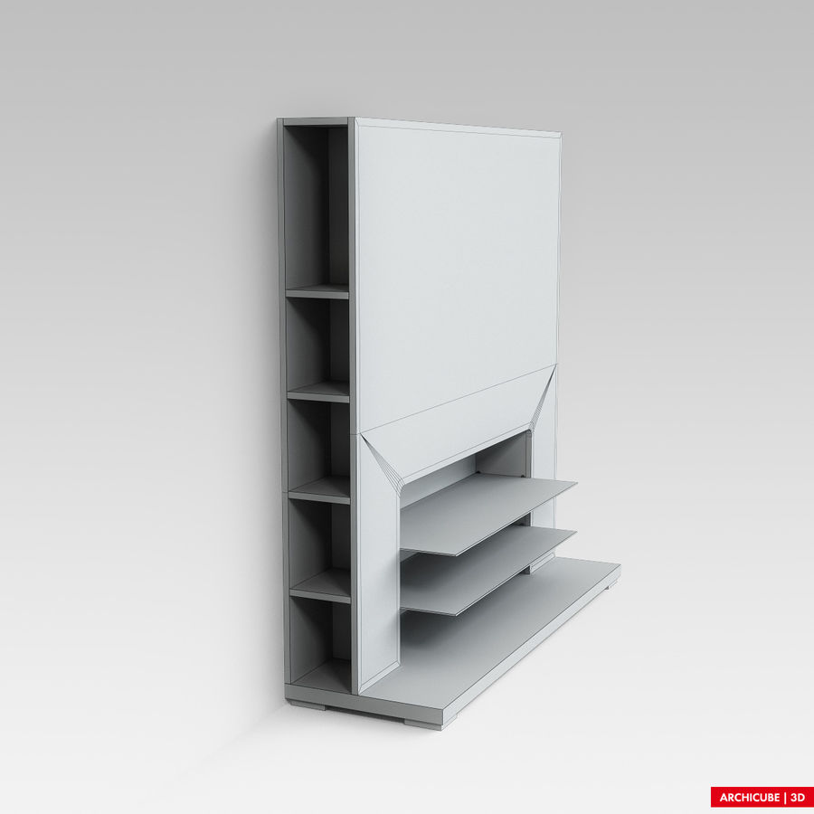 Furniture for TV royalty-free 3d model - Preview no. 7