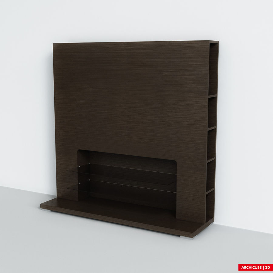 Furniture for TV royalty-free 3d model - Preview no. 3