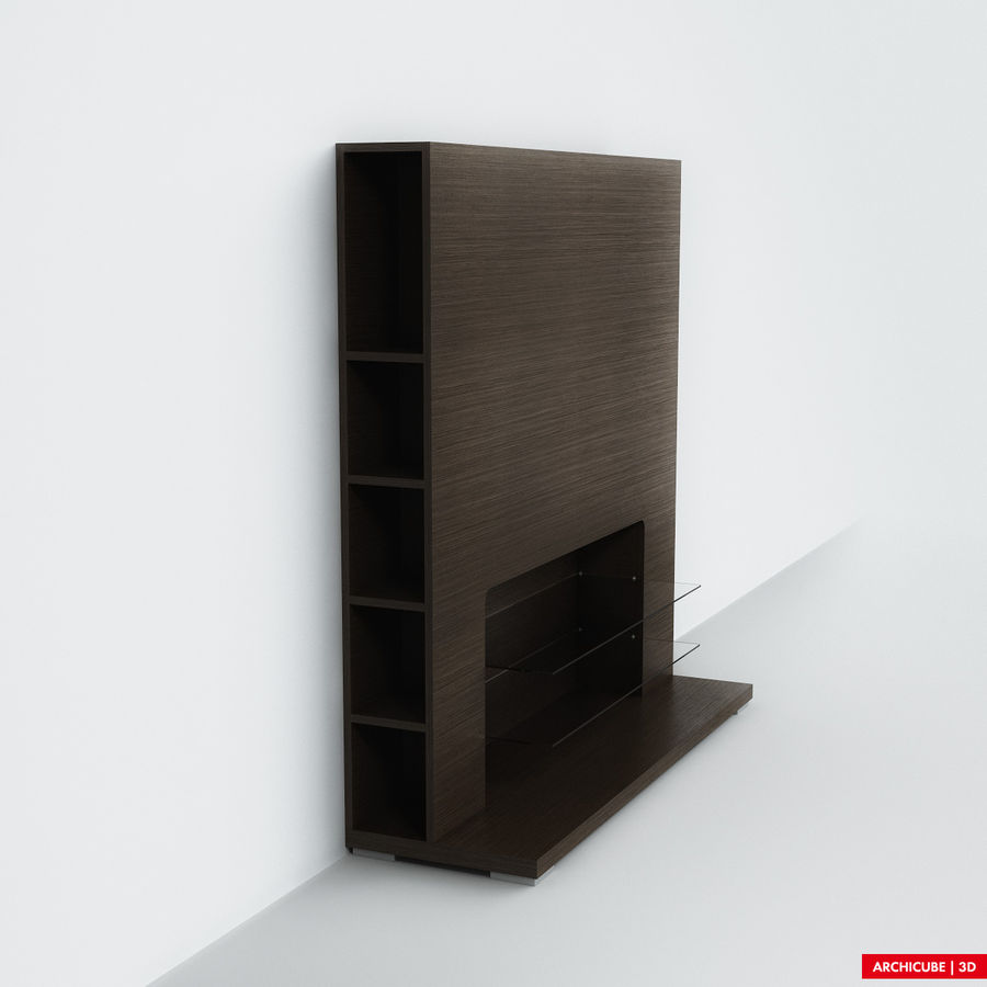 Furniture for TV royalty-free 3d model - Preview no. 2