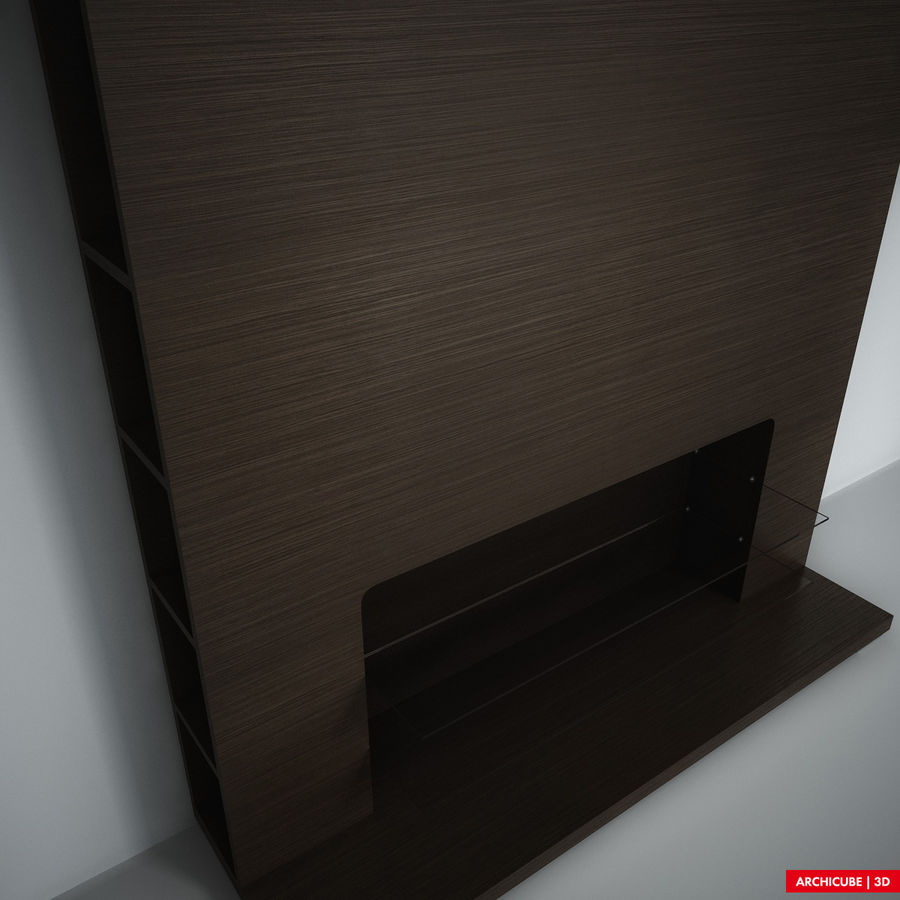 Furniture for TV royalty-free 3d model - Preview no. 5