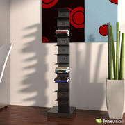 Tower Metallic Bookcase 3d model