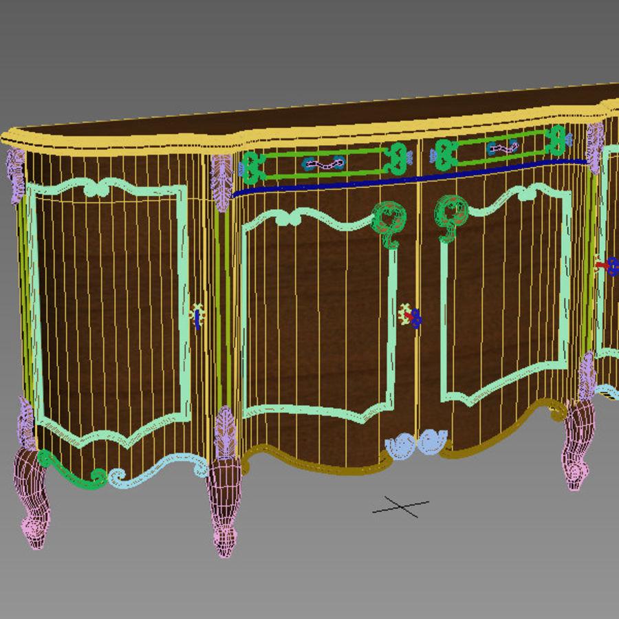 Nachttisch am Bett royalty-free 3d model - Preview no. 5