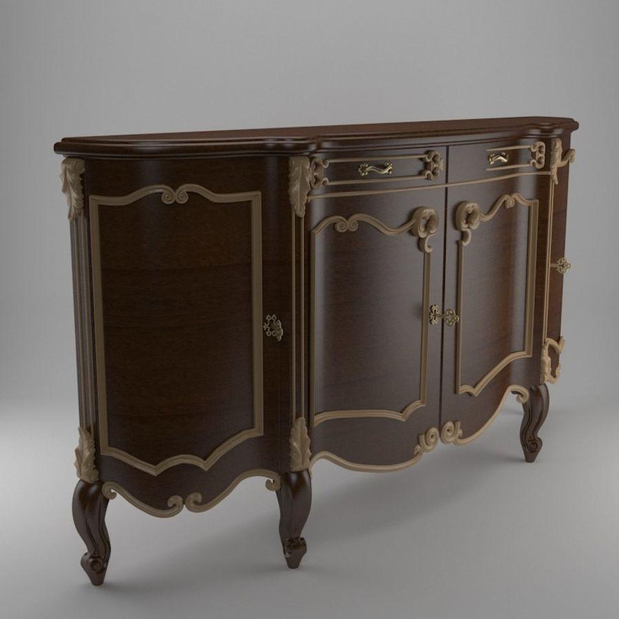 Nachttisch am Bett royalty-free 3d model - Preview no. 2