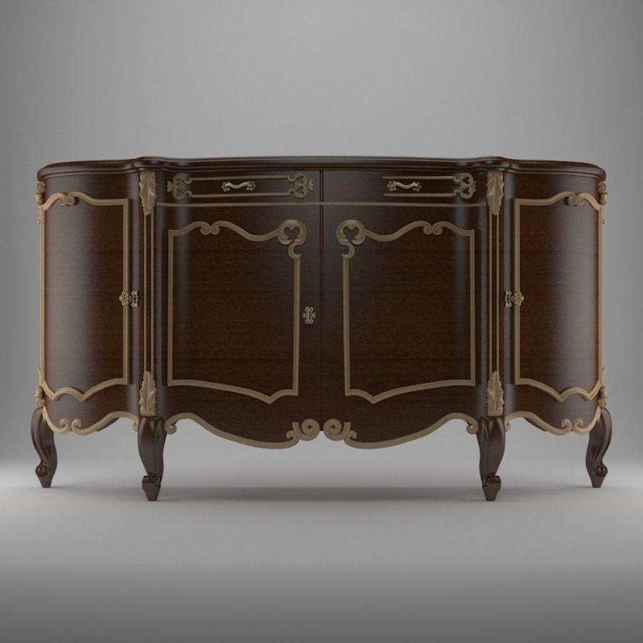 Nachttisch am Bett royalty-free 3d model - Preview no. 1