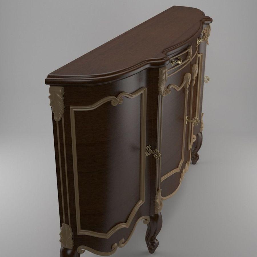 Nachttisch am Bett royalty-free 3d model - Preview no. 3