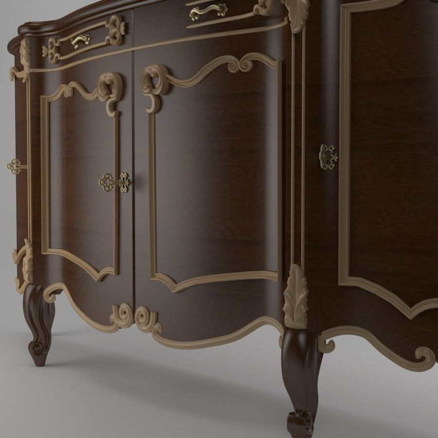 Nachttisch am Bett royalty-free 3d model - Preview no. 4