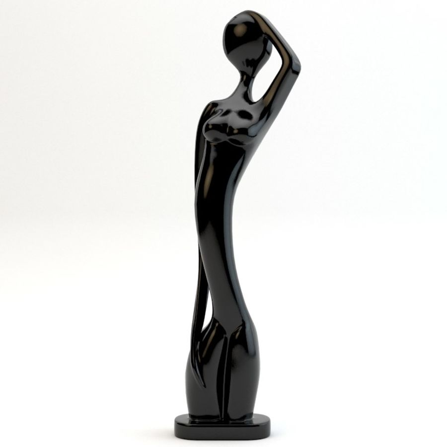 Statue femmes africaines royalty-free 3d model - Preview no. 1