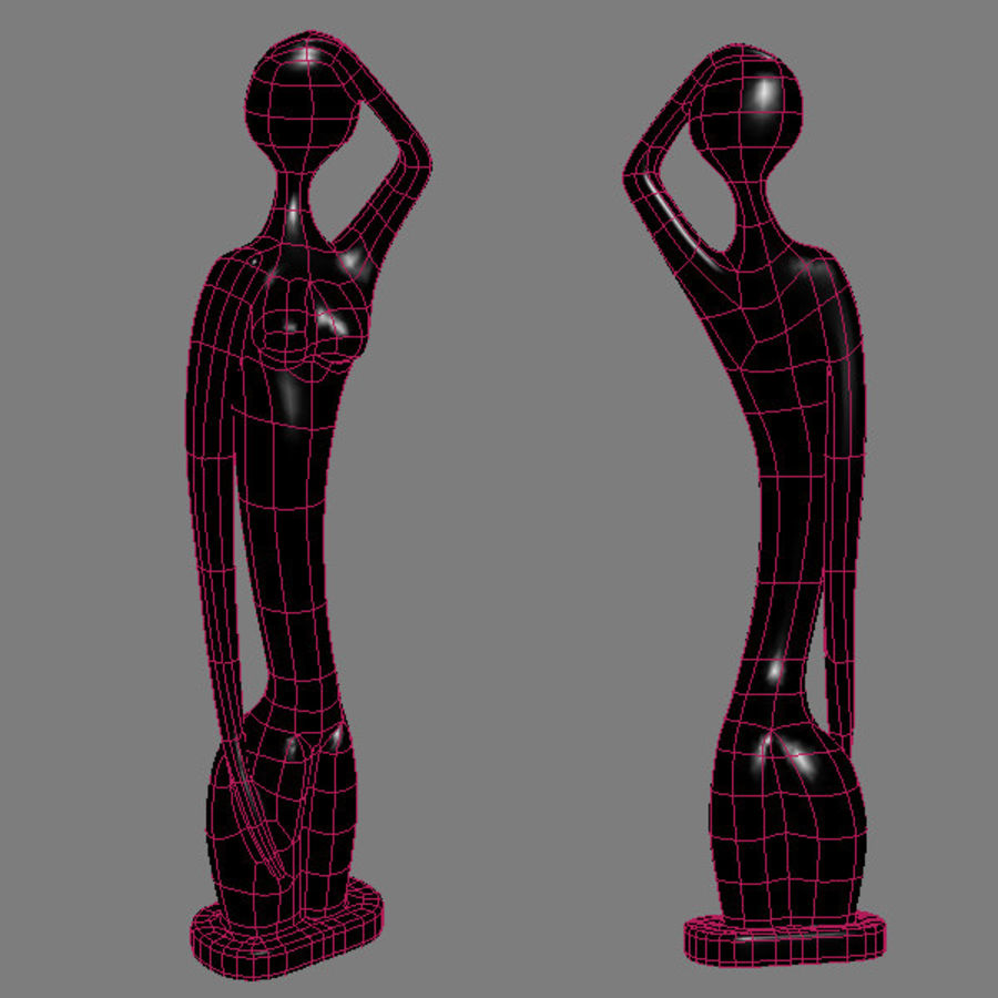 Statue femmes africaines royalty-free 3d model - Preview no. 9