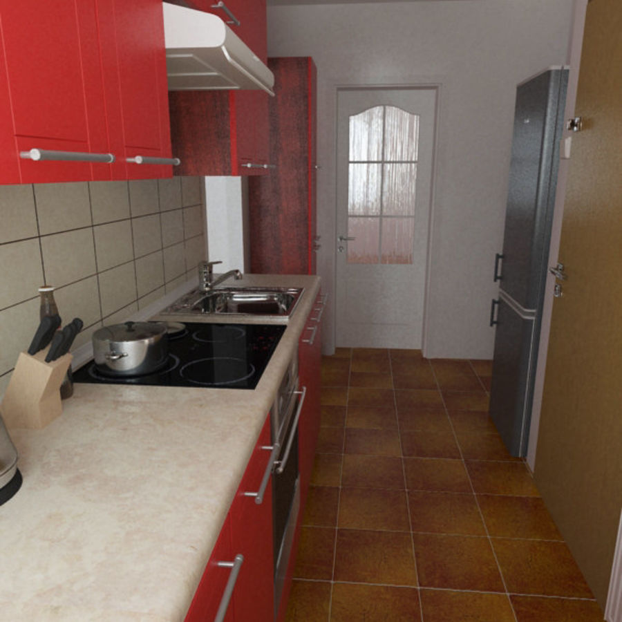 Moderne keuken royalty-free 3d model - Preview no. 2