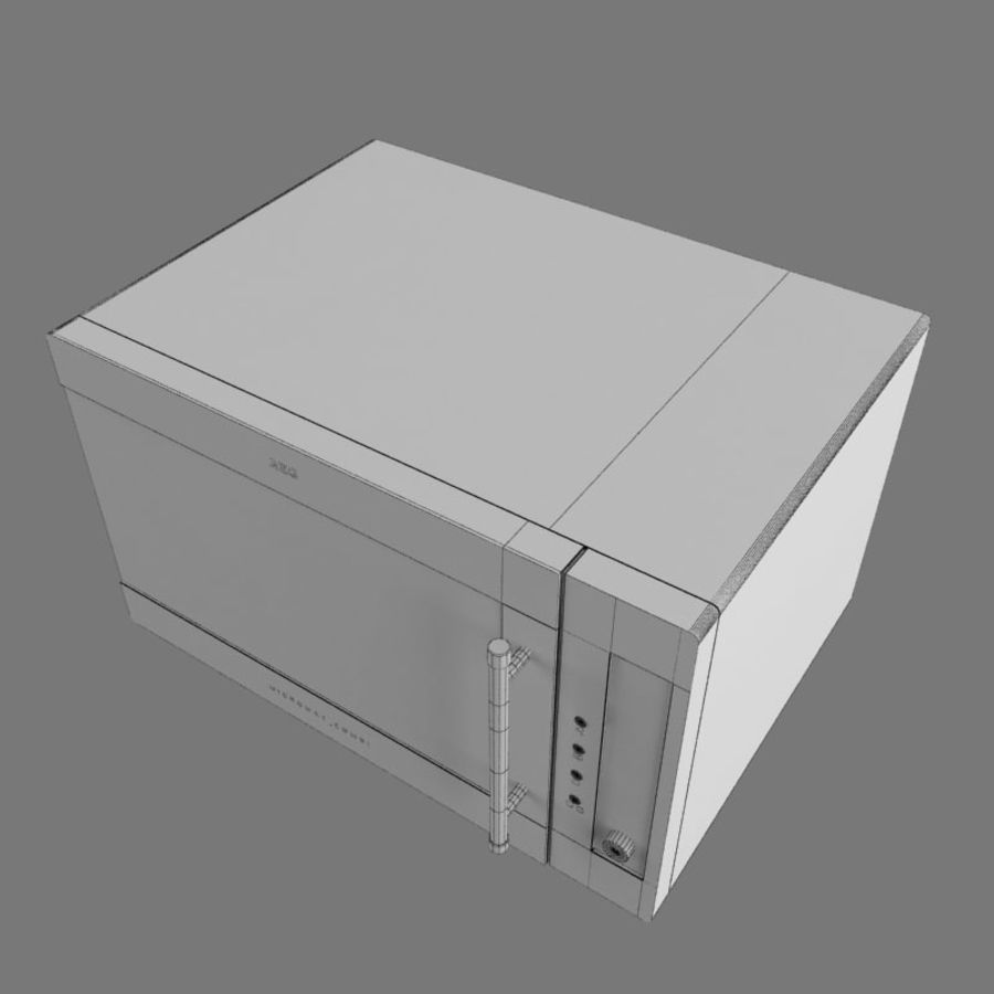 Moderne keuken royalty-free 3d model - Preview no. 9
