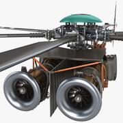 Silnik helikoptera 3d model
