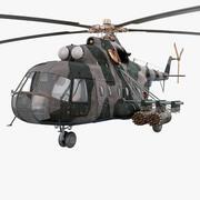 Soviet Transport Helicopter Mil Mi-8 3d model