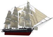 Segelschiff 3d model