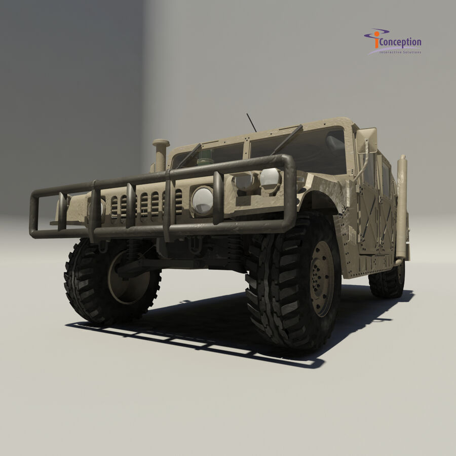 Humvee HMMWV Military royalty-free 3d model - Preview no. 7