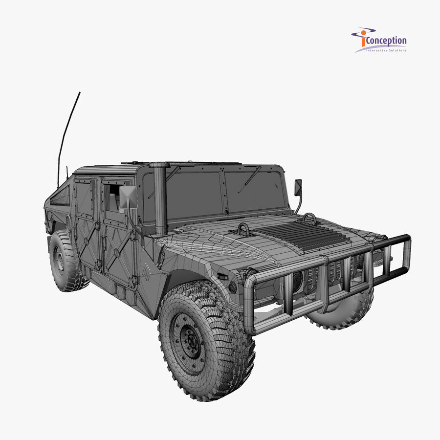 Humvee HMMWV Military royalty-free 3d model - Preview no. 9