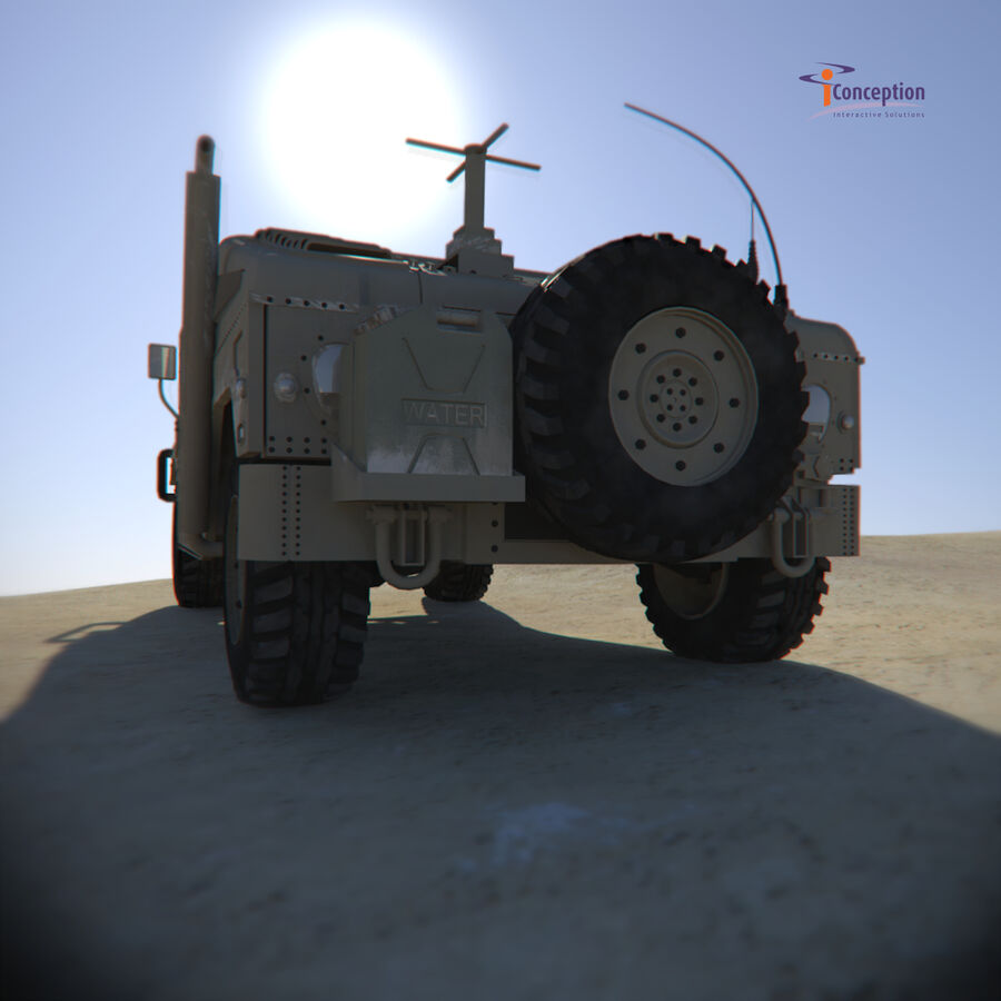 Humvee HMMWV Military royalty-free 3d model - Preview no. 5