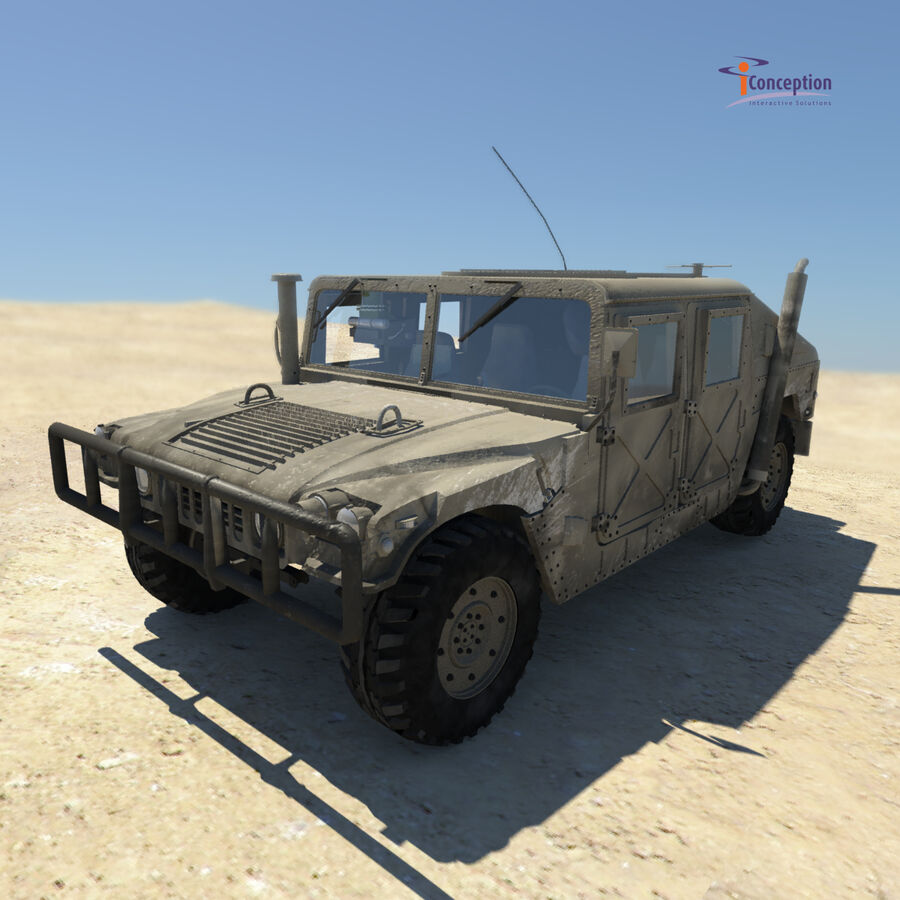 Humvee HMMWV Military royalty-free 3d model - Preview no. 2