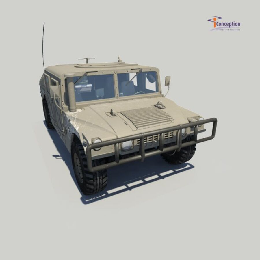 Humvee HMMWV Military royalty-free 3d model - Preview no. 8