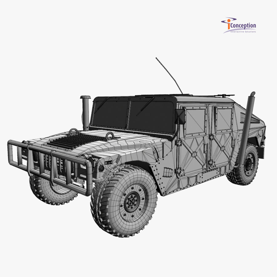 Humvee HMMWV Military royalty-free 3d model - Preview no. 10