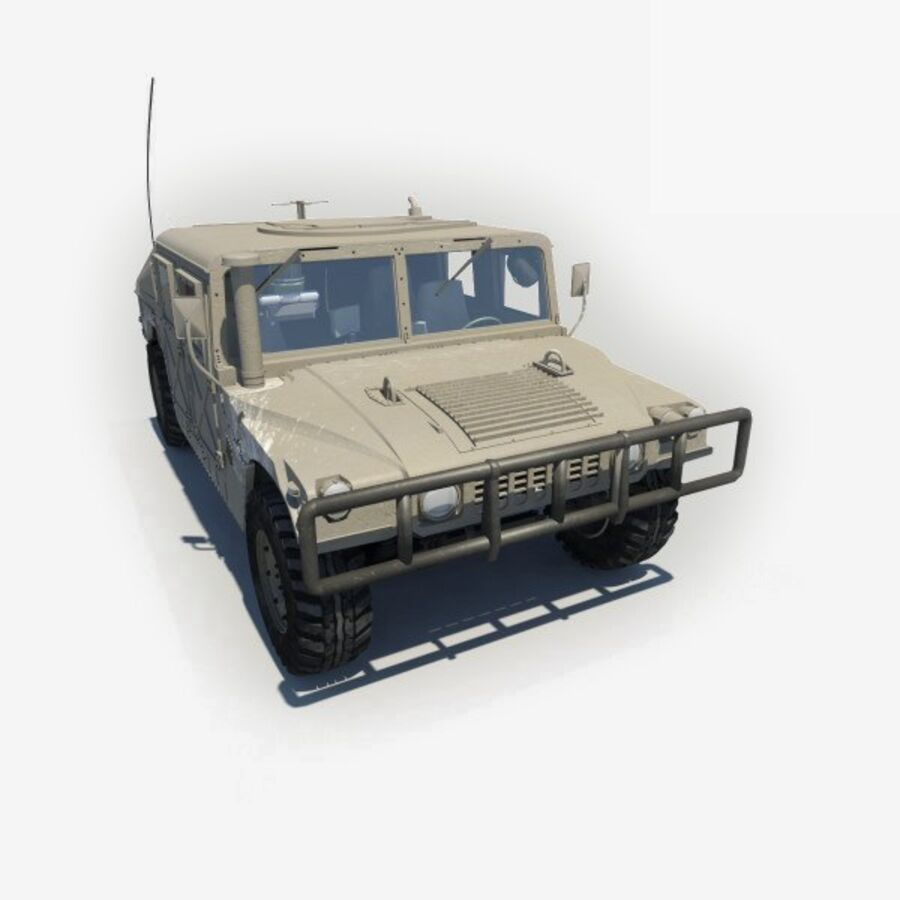 Humvee HMMWV Military royalty-free 3d model - Preview no. 1