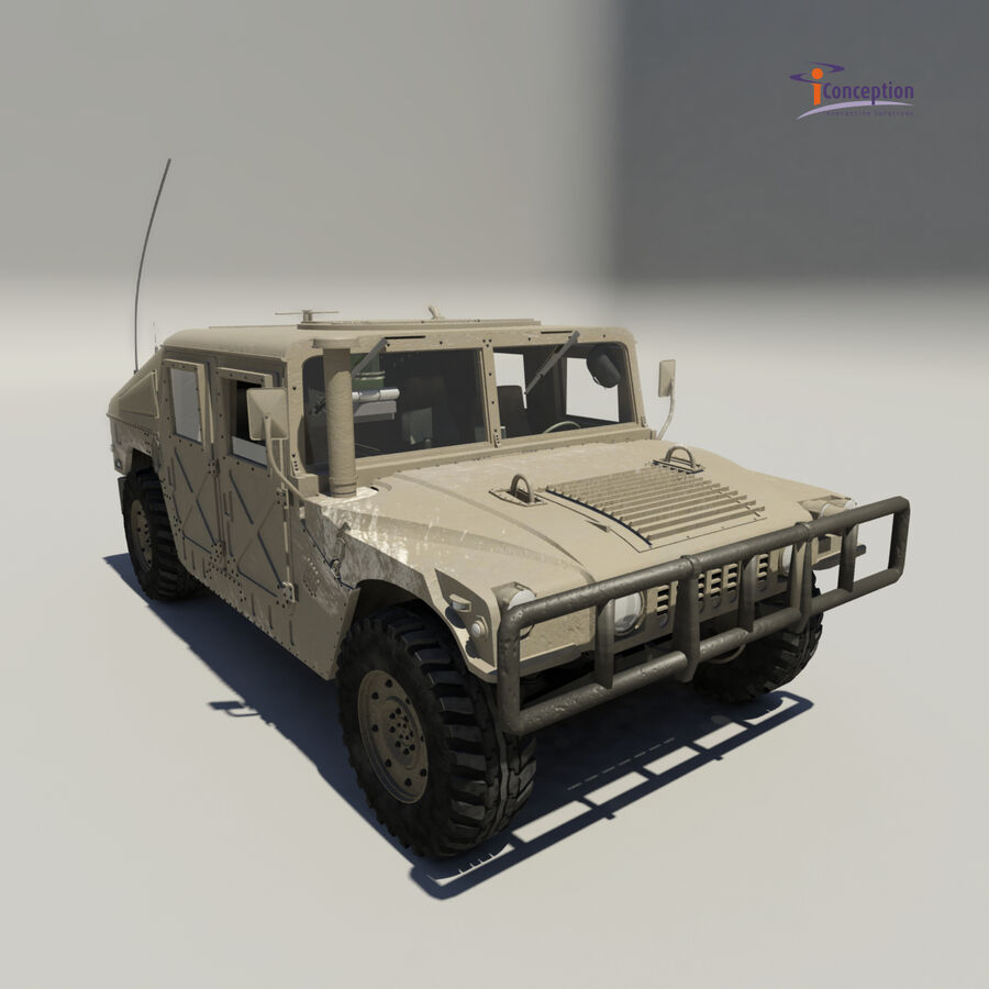 Humvee HMMWV Military royalty-free 3d model - Preview no. 6
