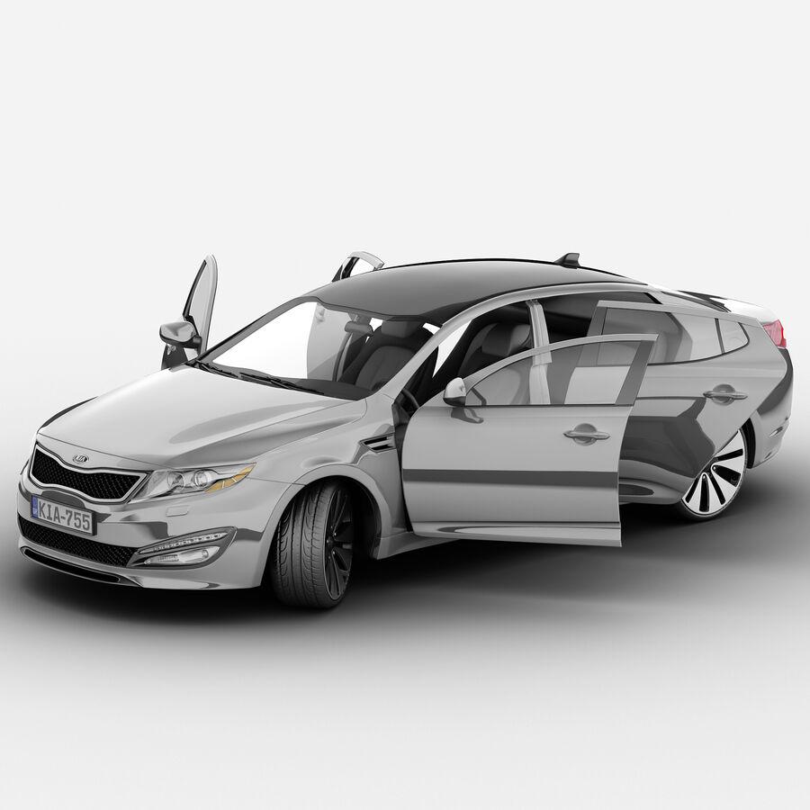 Kia Optima 2011 royalty-free 3d model - Preview no. 53