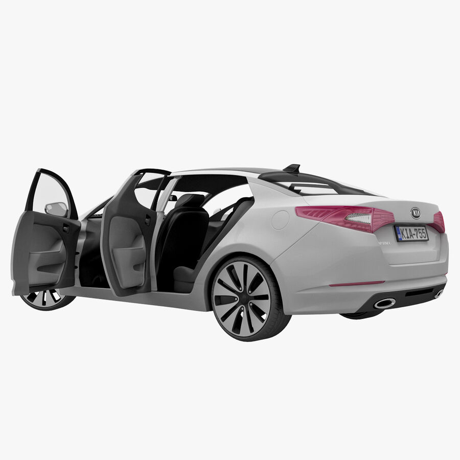 Kia Optima 2011 royalty-free 3d model - Preview no. 64