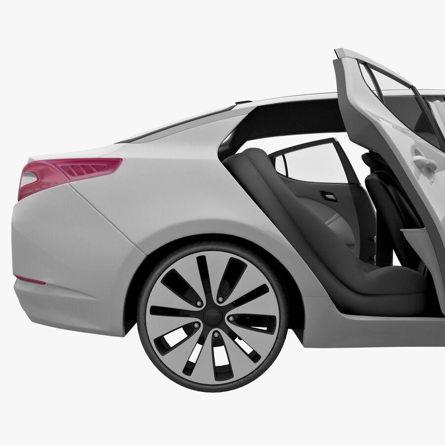 Kia Optima 2011 royalty-free 3d model - Preview no. 59
