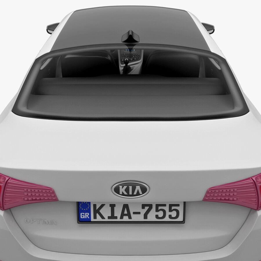 Kia Optima 2011 royalty-free 3d model - Preview no. 36