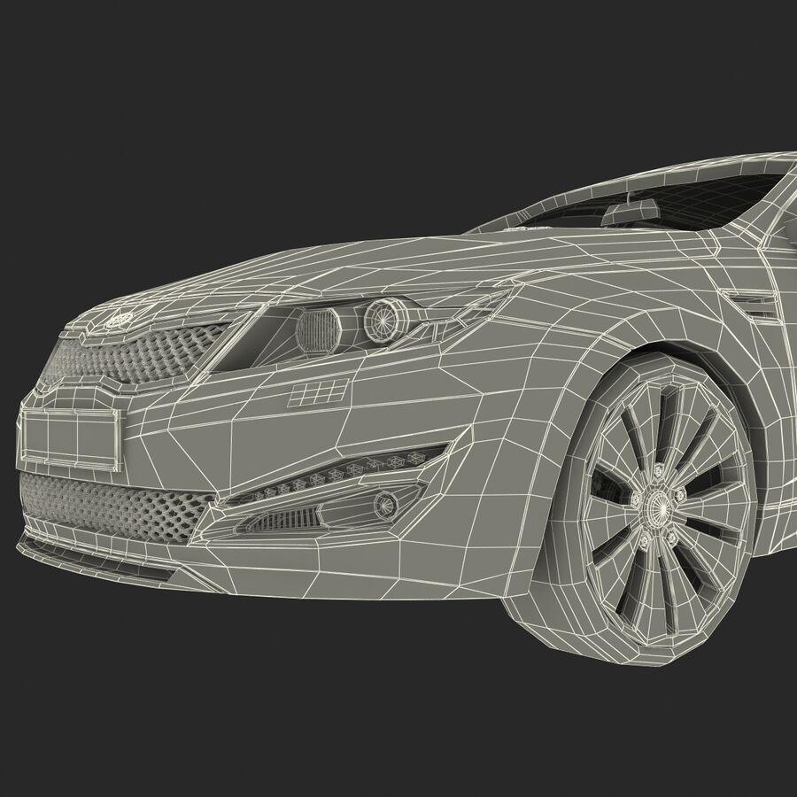 Kia Optima 2011 royalty-free 3d model - Preview no. 84
