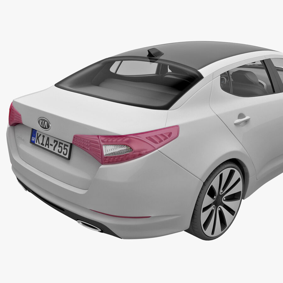 Kia Optima 2011 royalty-free 3d model - Preview no. 15