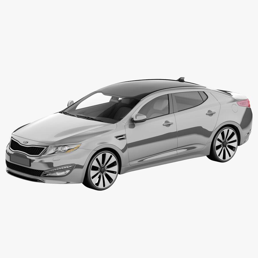 Kia Optima 2011 royalty-free 3d model - Preview no. 1