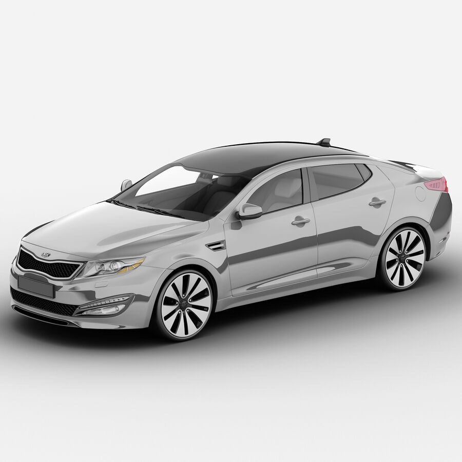 Kia Optima 2011 royalty-free 3d model - Preview no. 2
