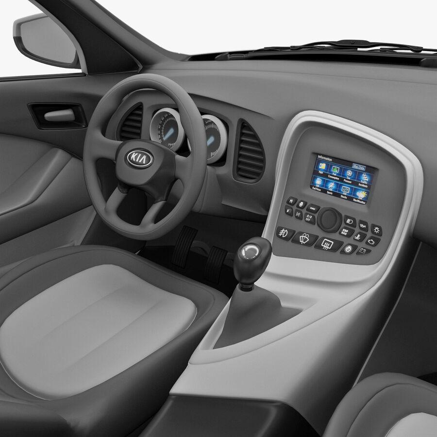 Kia Optima 2011 royalty-free 3d model - Preview no. 46