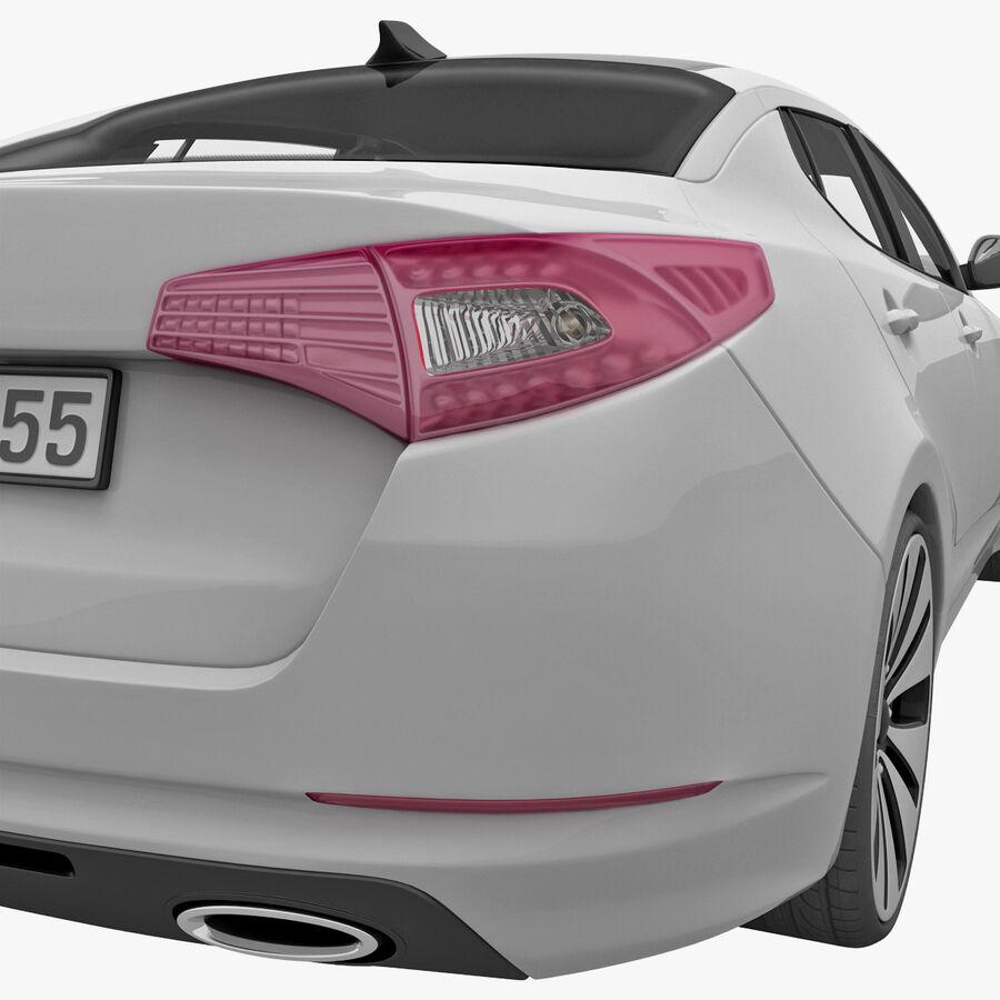 Kia Optima 2011 royalty-free 3d model - Preview no. 41