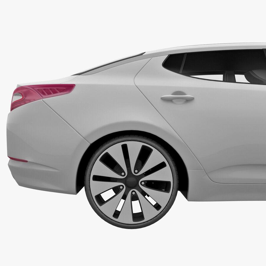 Kia Optima 2011 royalty-free 3d model - Preview no. 14