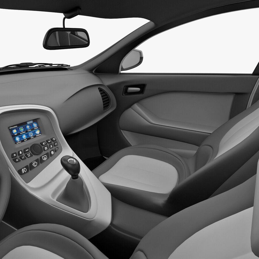 Kia Optima 2011 royalty-free 3d model - Preview no. 47