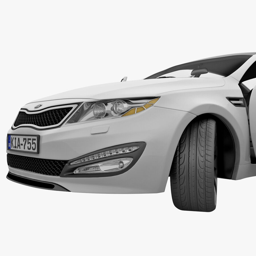 Kia Optima 2011 royalty-free 3d model - Preview no. 67