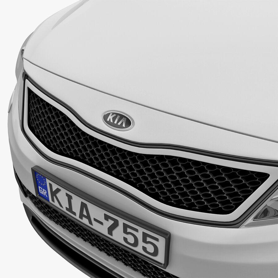 Kia Optima 2011 royalty-free 3d model - Preview no. 39