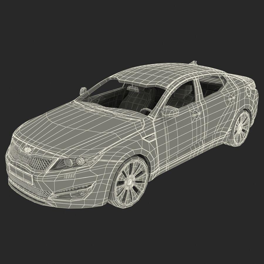 Kia Optima 2011 royalty-free 3d model - Preview no. 72