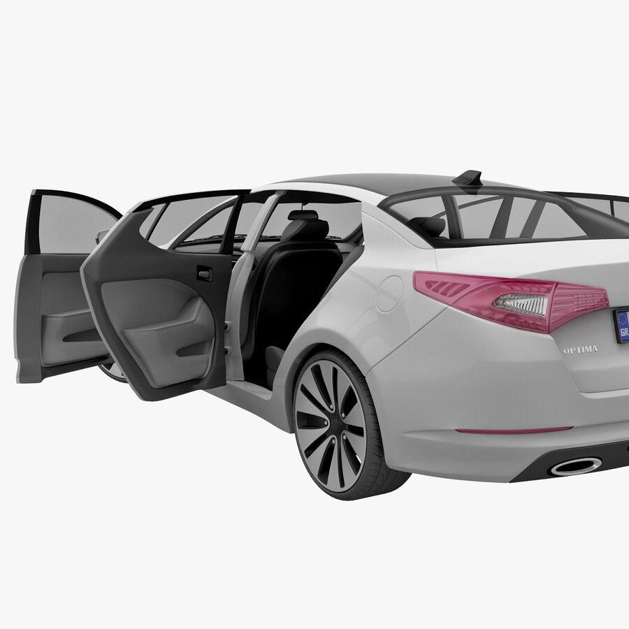 Kia Optima 2011 royalty-free 3d model - Preview no. 62