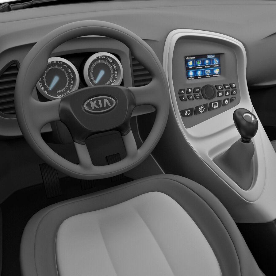 Kia Optima 2011 royalty-free 3d model - Preview no. 45