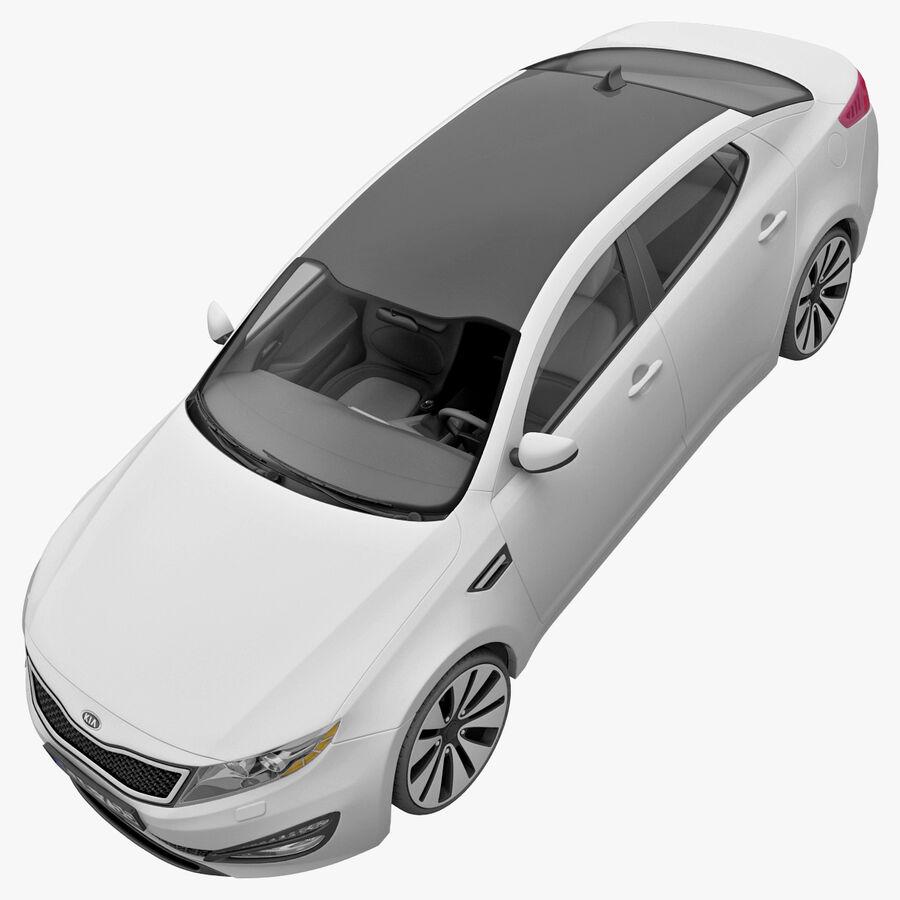 Kia Optima 2011 royalty-free 3d model - Preview no. 27