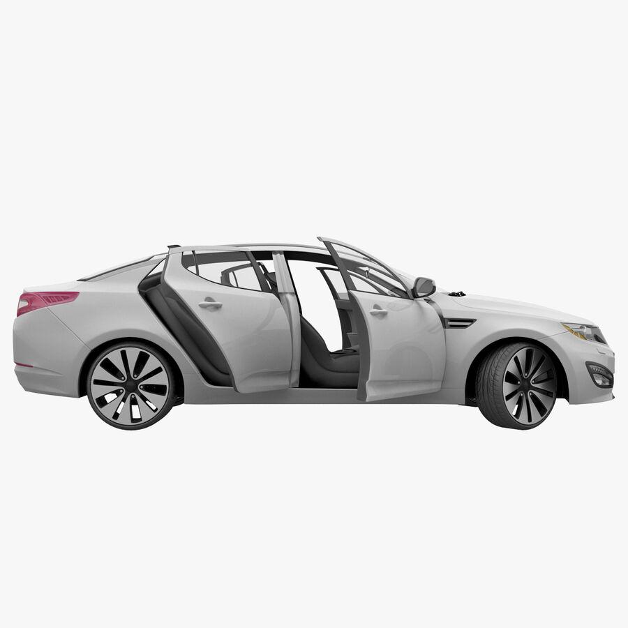 Kia Optima 2011 royalty-free 3d model - Preview no. 56