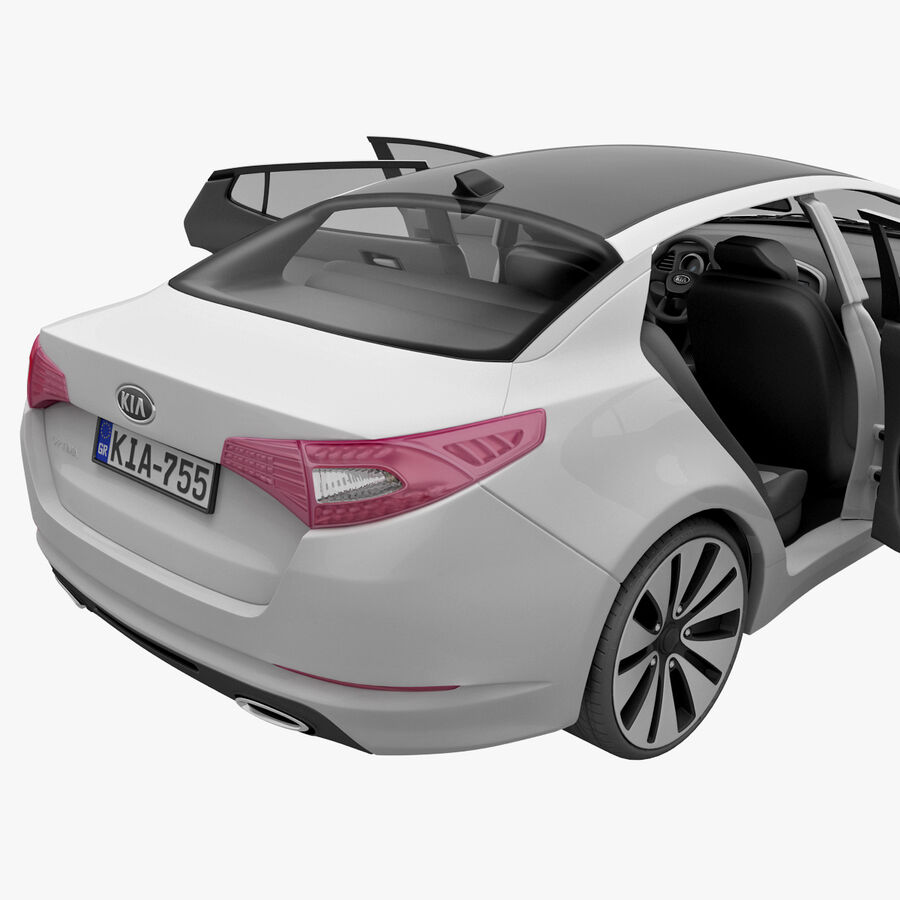 Kia Optima 2011 royalty-free 3d model - Preview no. 60