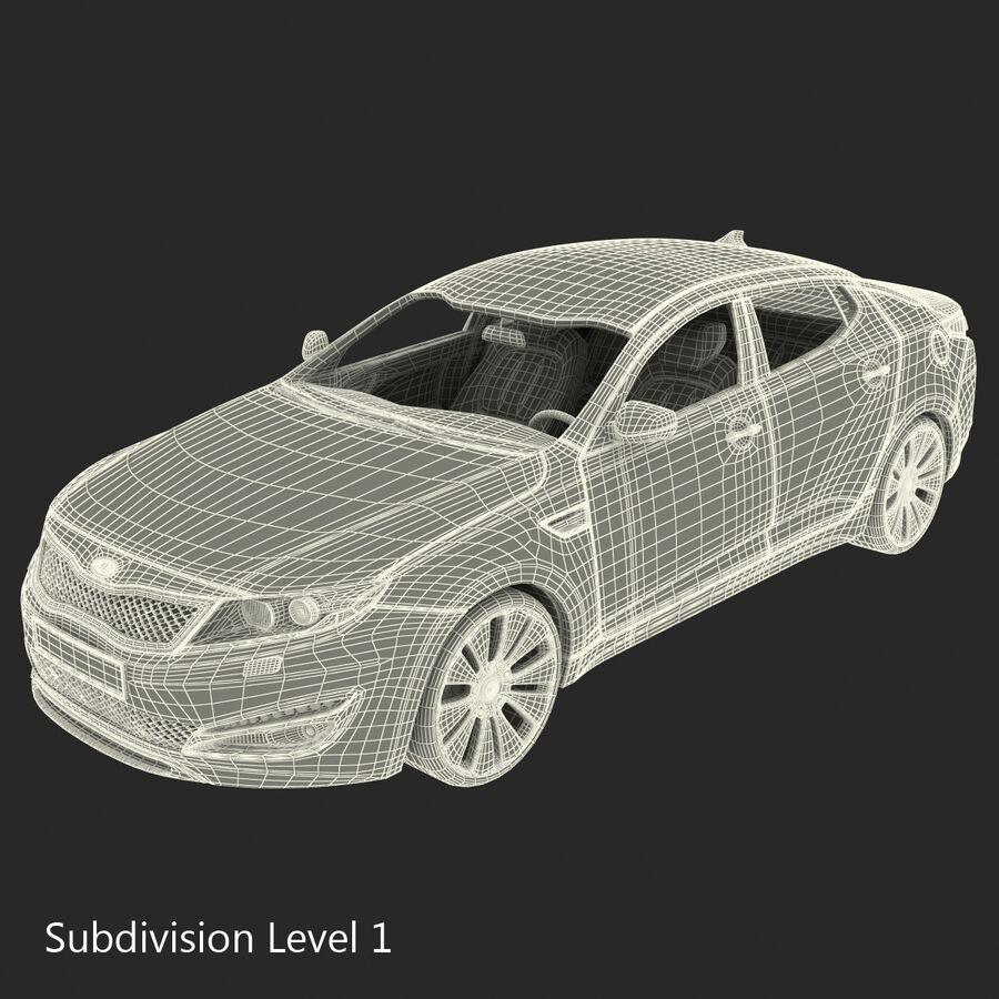 Kia Optima 2011 royalty-free 3d model - Preview no. 93
