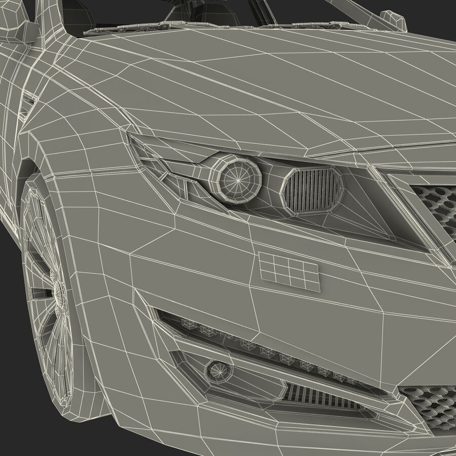 Kia Optima 2011 royalty-free 3d model - Preview no. 90