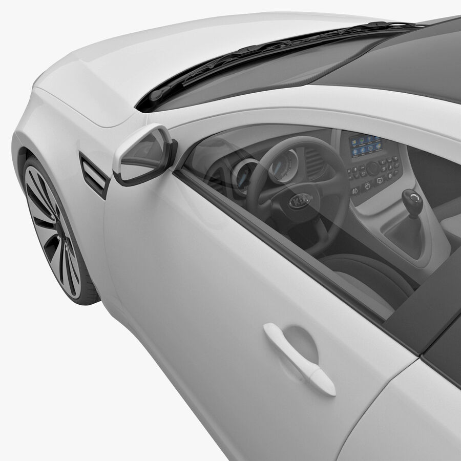 Kia Optima 2011 royalty-free 3d model - Preview no. 38