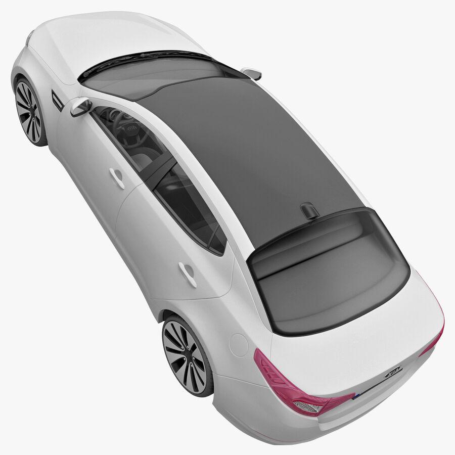 Kia Optima 2011 royalty-free 3d model - Preview no. 26