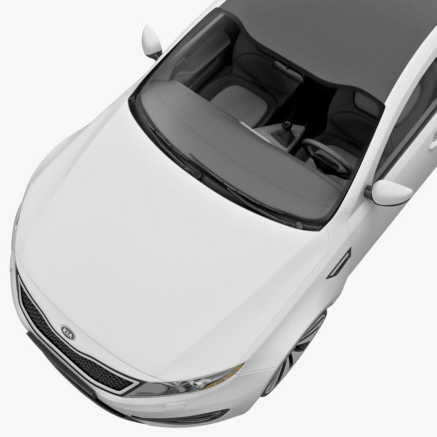 Kia Optima 2011 royalty-free 3d model - Preview no. 18